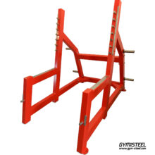 Squat Rack (B1) is a piece of equipment designed for athletes to safely perform squats and other heavy lifts.