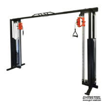 Cable Crossover Machine is a great two-rope system with height-adjustable handles. You can perform many exercises for the upper body at different angles.
