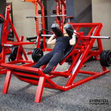 Hack Squat Machine feels like the free weight movement. It facilitates heavier lifting by removing the issues of weak balance and stabilization.