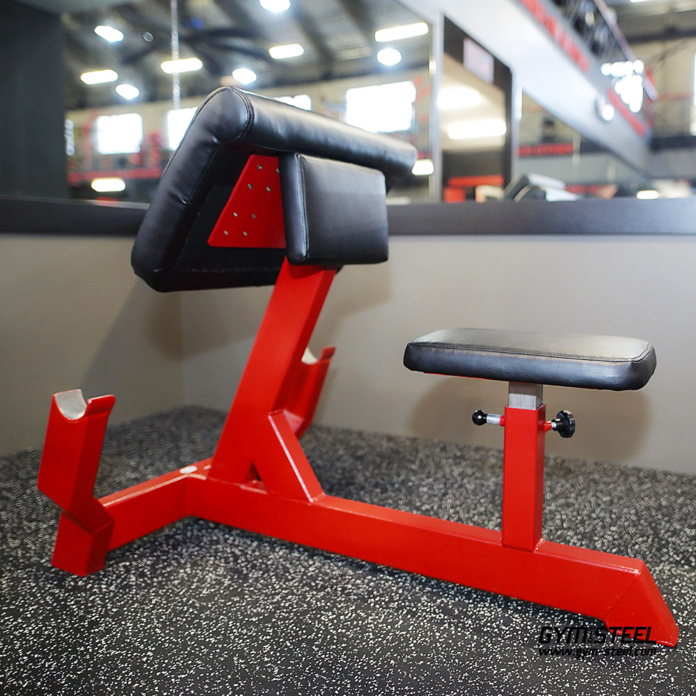 Scott Bench with adjustable seat gives you one of the best exercises to build solid biceps.