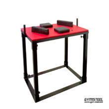 Arm wrestling Table. Heavy duty table holds up even the toughest competitions. Elbow pads and pin pads made of high density foam.