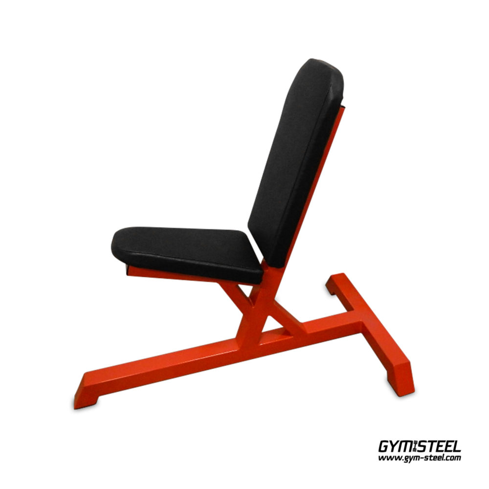 Stationary Bench has a 3 degree tilt which allows more comfortable angle for shoulder workouts.
