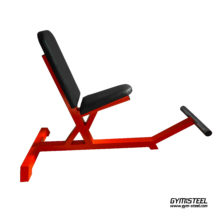 Stationary Bench has a 3 degree tilt which allows more comfortable angle for shoulder workouts. This also gives a better balance.