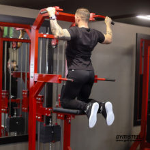 Dip – Chin up Assist Machine are the perfect way for any new athletes to build the required strength for Chin up or Dip with their own bodyweight.