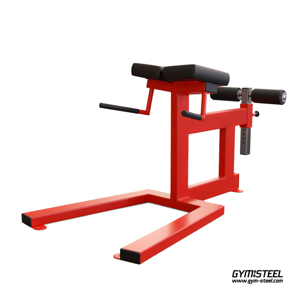 Hyperextension Bench has full size pads. They make it much more comfortable to train on this machine while using heavy resistance.