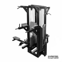 Four Position Multistation. This multifunctional machine is excellent for saving space in your gym.
