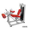 Leg Extension Leg Curl Machine offers two exercises in one machine. The muscles targeted are the quadriceps and hamstrings.